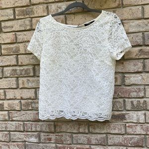 Forever 21 white lace top